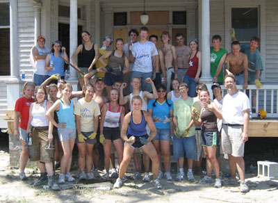 The Saline Fiddlers helped with reconstruction work in Biloxi, Mississippi